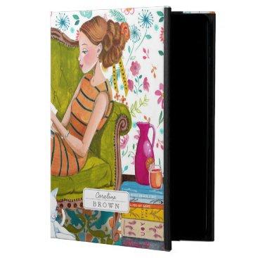 Reading Books Girl & Cat lover | iPad Air 2 Case