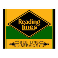 Reading Railroad,Bee Line Service Postcard