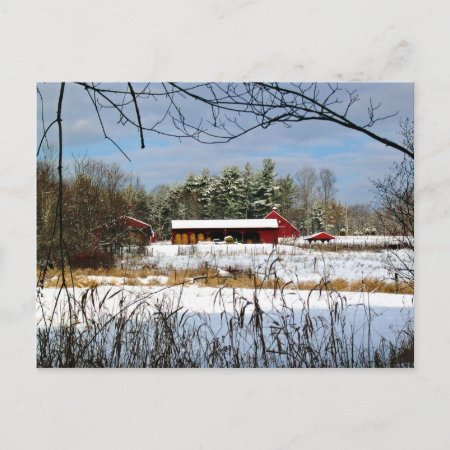 Red Barn Postcard postcard