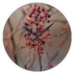 Red berries wallclock