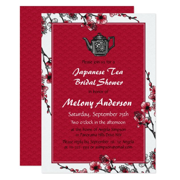 Japanese Bridal Shower Invitations