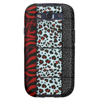 Red,Black,White Cheetah/Zebra Print Samsung Galaxy