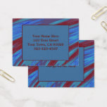 Red Blue Color Swish Business Card