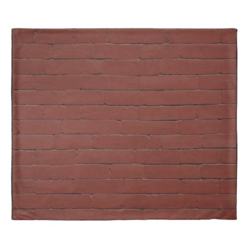 Red Brick Duvet Cover