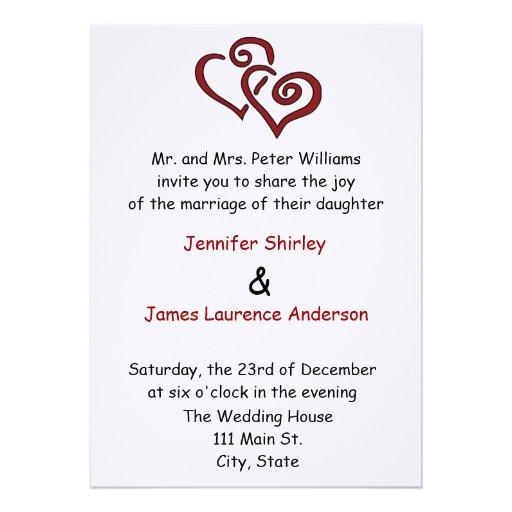 Great Papers Silver Double Hearts Wedding Invitation Kit 33 Heart Invitations Vizio