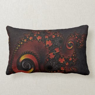 Red Dragon Fractal Art Pillows