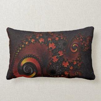 Red Dragon Fractal Art Pillows