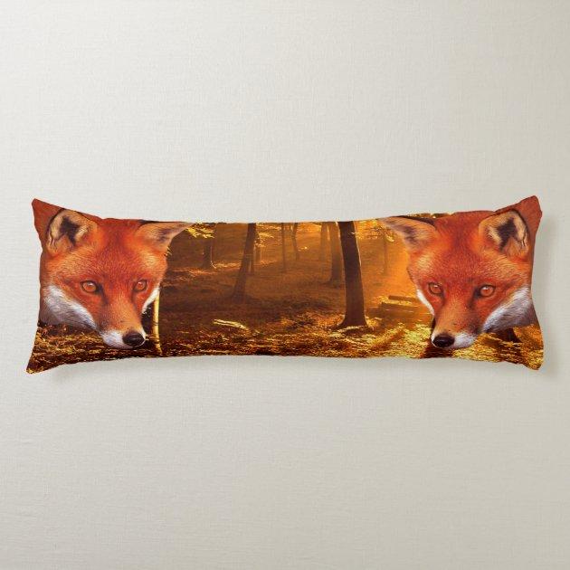 red fox body pillow zazzle com