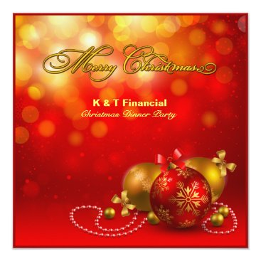 Red & Gold Company Christmas Party Card
