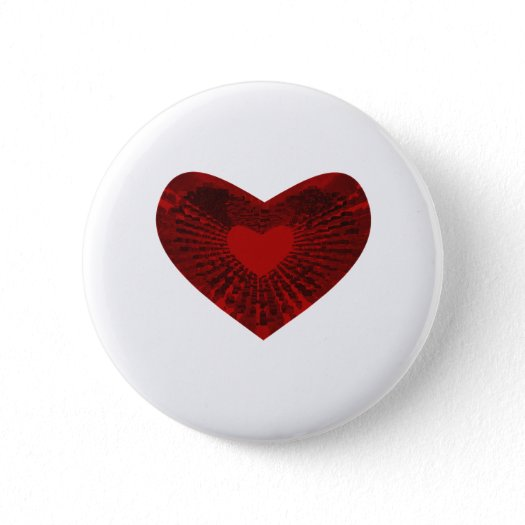 red heart pinback button