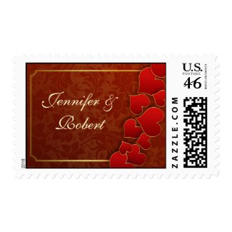 red love hearts beautiful postage post stamps