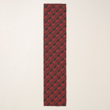 Red Papercut Dog Year 2018 Scarf