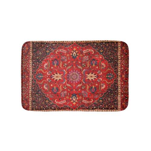 Red Persian Rug from Mashhad Bath Mat