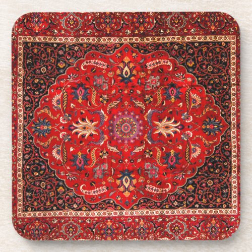 Red Persian Rug from Mashhad Coaster