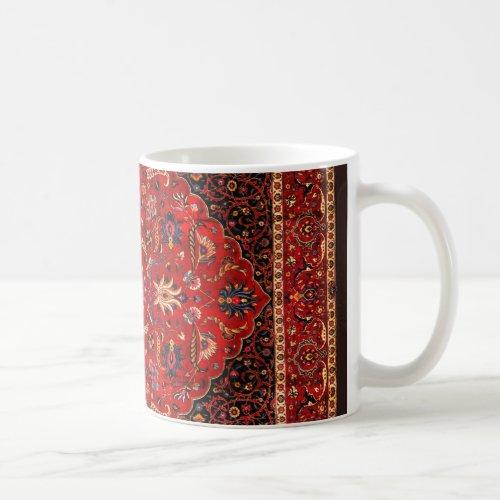 Red Persian Rug from Mashhad Coffee Mug