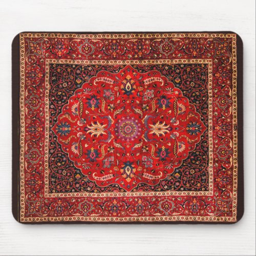 Red Persian Rug from Mashhad Mouse Pad