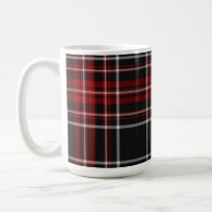 Red Plaid Mug - Classic White Mug, 15 oz