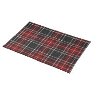 Red Plaid Tartan Placemat on Zazzle