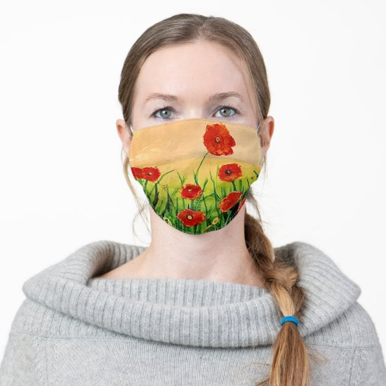 Red Poppies Cloth Face Mask