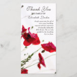 Pretty Red Poppies Floral Sympathy Thank You