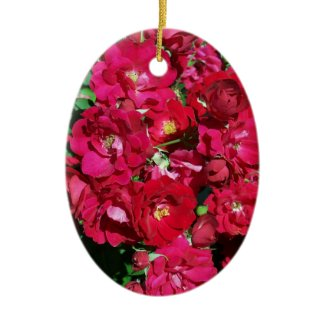 Red Rose Bush Ornament ornament