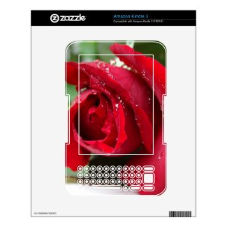 Red Rose - Kindle 3 Skin