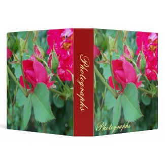 Red Rose with Water Droplet Photo Binder binder