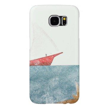 Red Sail Boat Colored Pencil Samsung Galaxy S6 Case