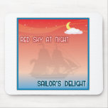 Red Sky At Night mousepads