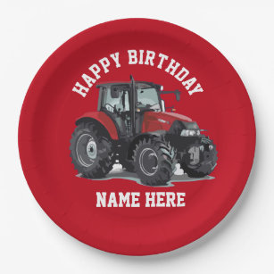 red tractor party supplies zazzle