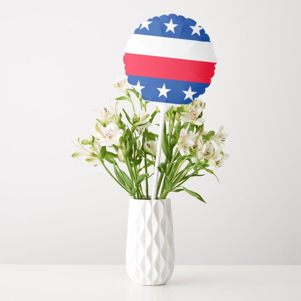 Red White Blue Stars Stripes Patriotic Balloon