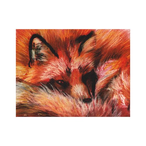 Refuge Fox Wrapped Canvas Print