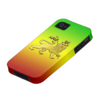 Reggae Rasta Lion of Judah Case-Mate iPhone 4 Covers