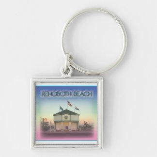 Rehoboth Beach Delaware - Rehoboth Ave Scene Keychains
