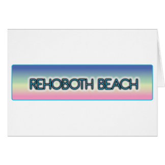 Rehoboth Beach Pastel Rainbow Style 1 Greeting Card