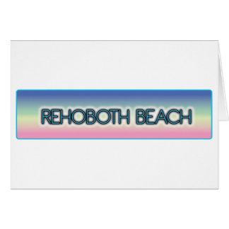 Rehoboth Beach Pastel Rainbow Style 1 Greeting Card