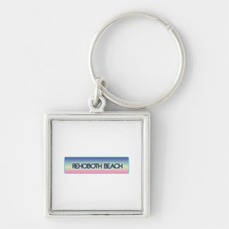 Rehoboth Beach Pastel Rainbow Style 1 Key Chains