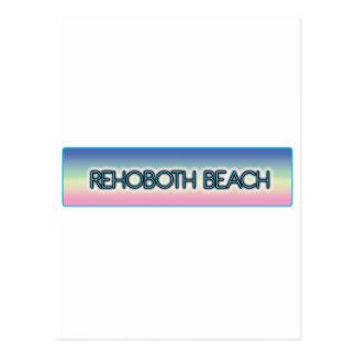 Rehoboth Beach Pastel Rainbow Style 1 Post Cards