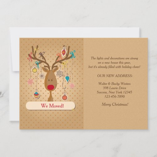 Reindeer Holiday Moving Announcement