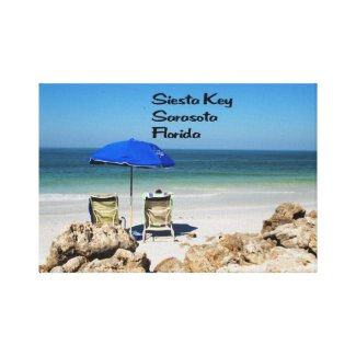 Relaxing on Siesta Key Gallery Wrap Canvas