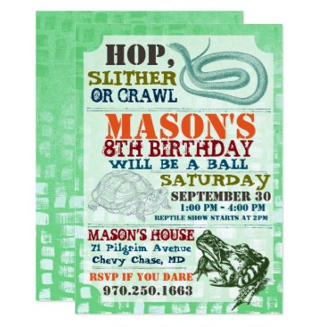 Reptile Show Birthday Party Invitation