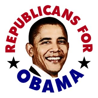 Republicans For Barack Obama Button zazzle_button