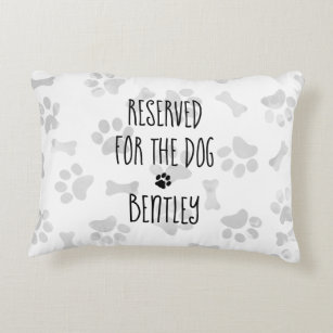 reserved for the dog decorative throw