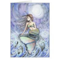 Restless Tide Mermaid Greeting Card