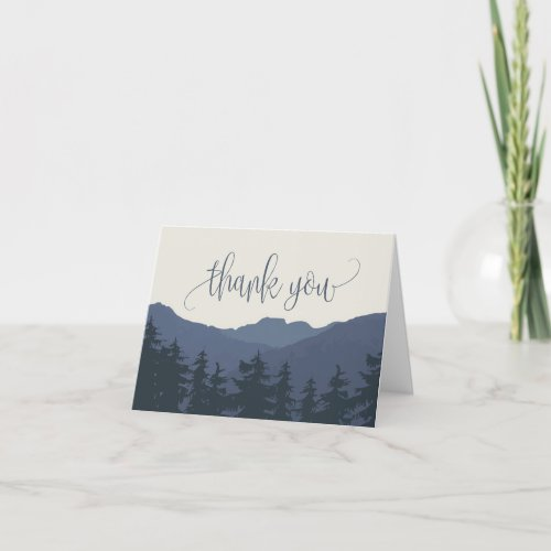 Retreat to the Mountains Wedding Thank You Card