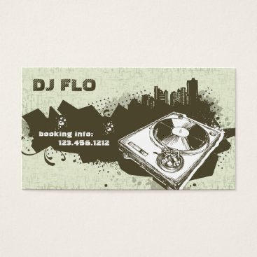 Retro DJ Business Cards