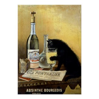 Vintage French Poster - Absinthe Bourgeois