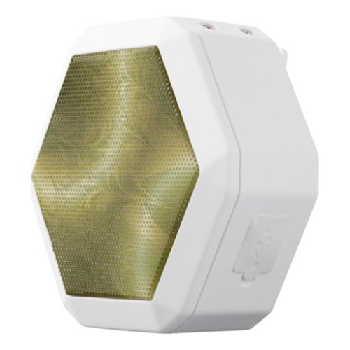 Retro Green and Gold White Bluetooth Speaker