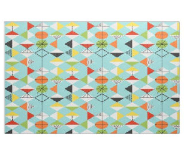 Retro Harlequin Pattern Fabric