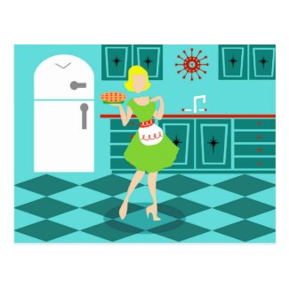 Retro Kitchen Postcard